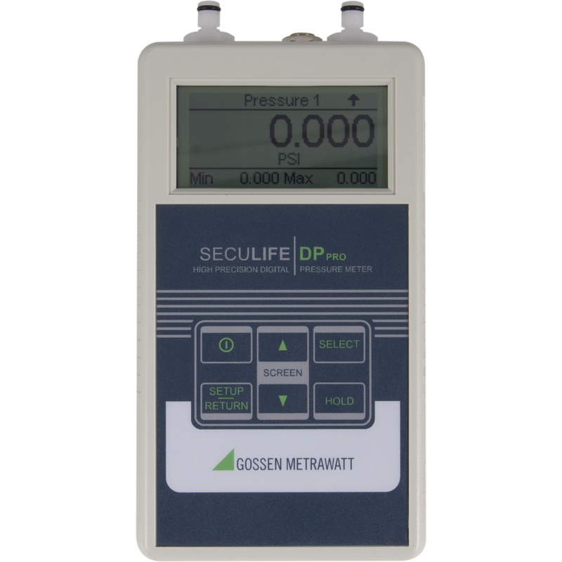 SECULIFE DB PRO, tester for pressure / vacuum, 0,05% Genauigkeit, RS232